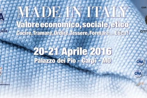 Made in Italy Valore Economico, Sociale, Etico