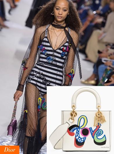 Loghi e lettering Dior borsa 2018