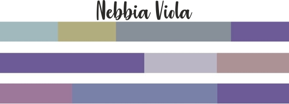 Ultra Violet mix color nebbia viola